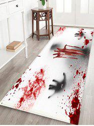 Halloween Ghost Bloody Hand Pattern Water Absorption Area Rug -