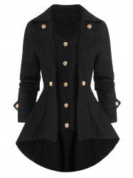 High Low Solid Long Sleeve Coat -