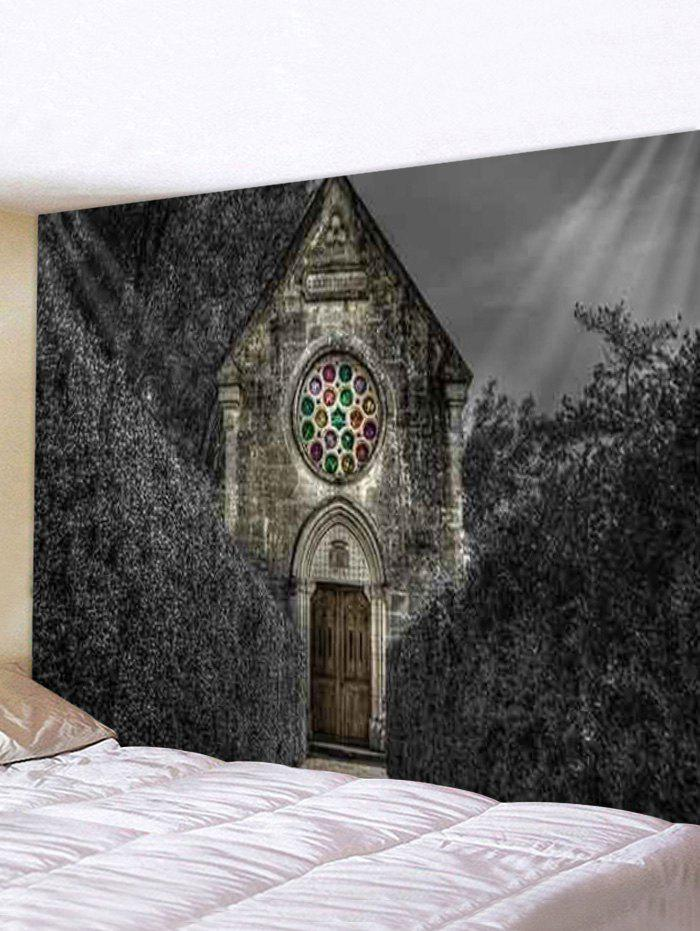Trendy Halloween Forest Church Print Tapestry Wall Hanging Art Decoration