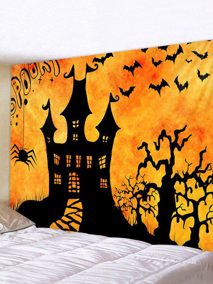 Outfits Halloween Night Castle Print Tapestry Wall Hanging Art Decoration
