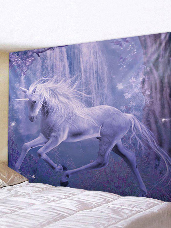 Latest Forest Unicorn Print Tapestry Wall Hanging Art Decor