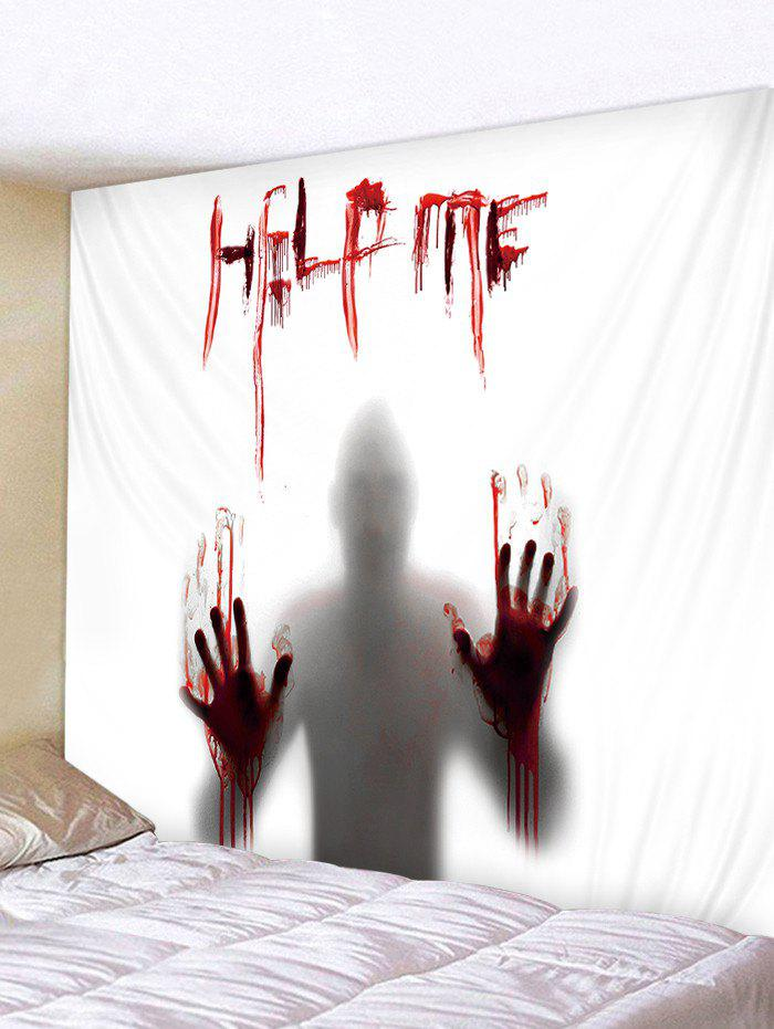 New Polyester Halloween Silhouette Help Me Print Tapestry