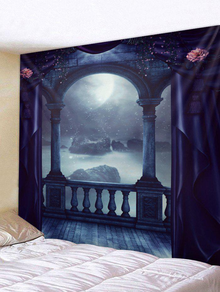 New Moon Night Porch Print Tapestry Wall Hanging Art Decoration