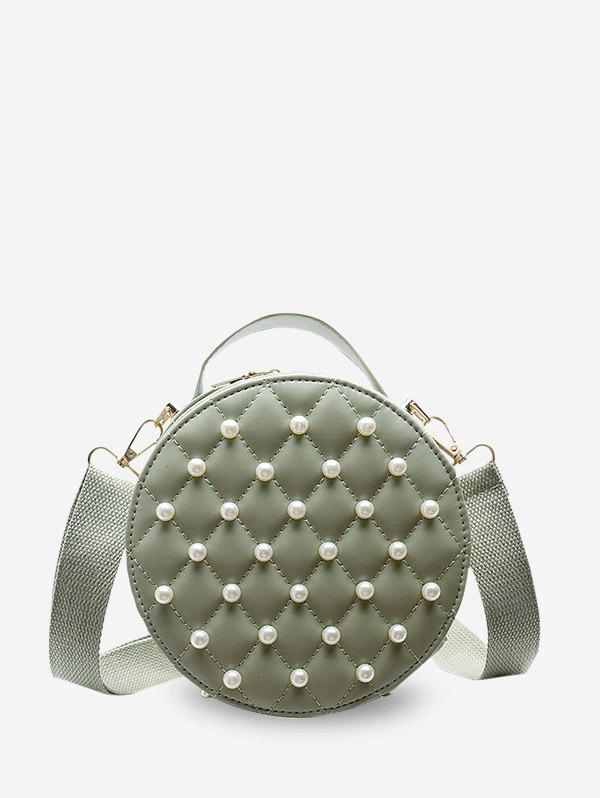 Shop Faux Pearl Quilted Crossbody Bag