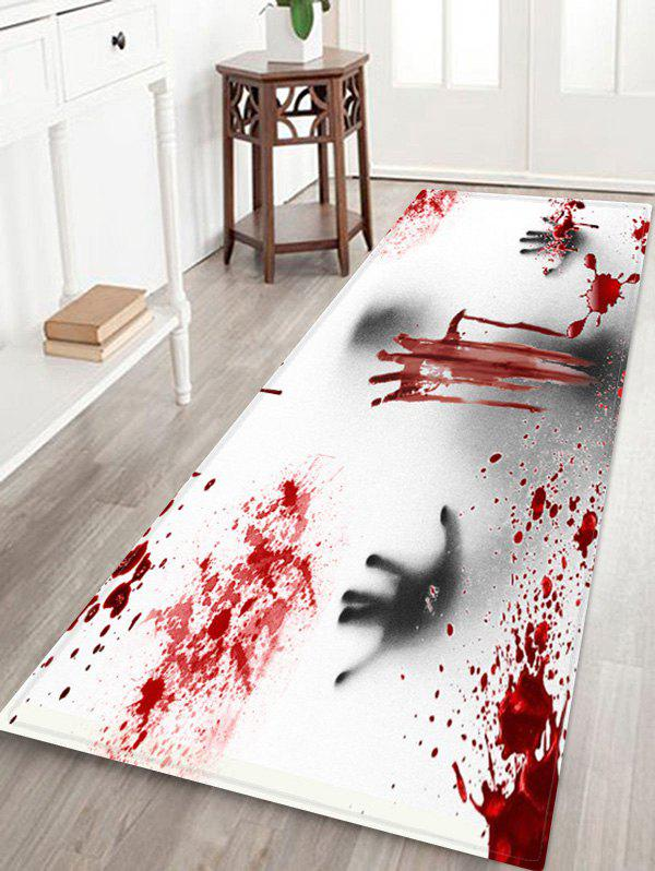 Store Halloween Ghost Bloody Hand Pattern Water Absorption Area Rug