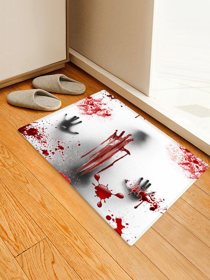 Fashion Halloween Ghost Bloody Hand Pattern Water Absorption Area Rug