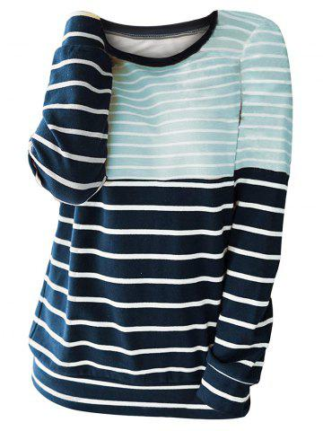 Two Tone Striped Long Sleeve Tee