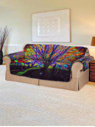 Abstract Tree Design Couch Cover -