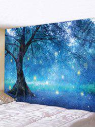Forest Tree Glowworm Print Tapestry Wall Hanging Art Decoration -