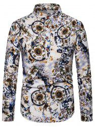 Ethnic Floral Printed Full Sleeves Shirt -