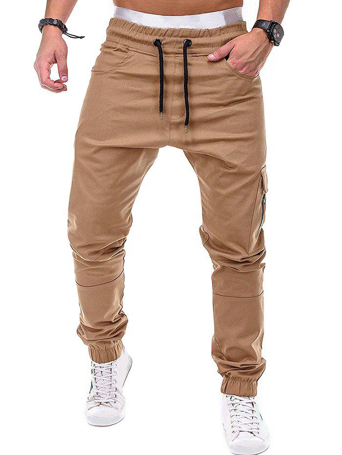 Fashion Zip Accent Pockets Casual Jogger Pants
