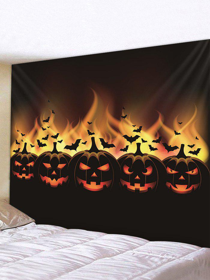 Latest Halloween Pumpkin Bats Printed Pattern Tapestry