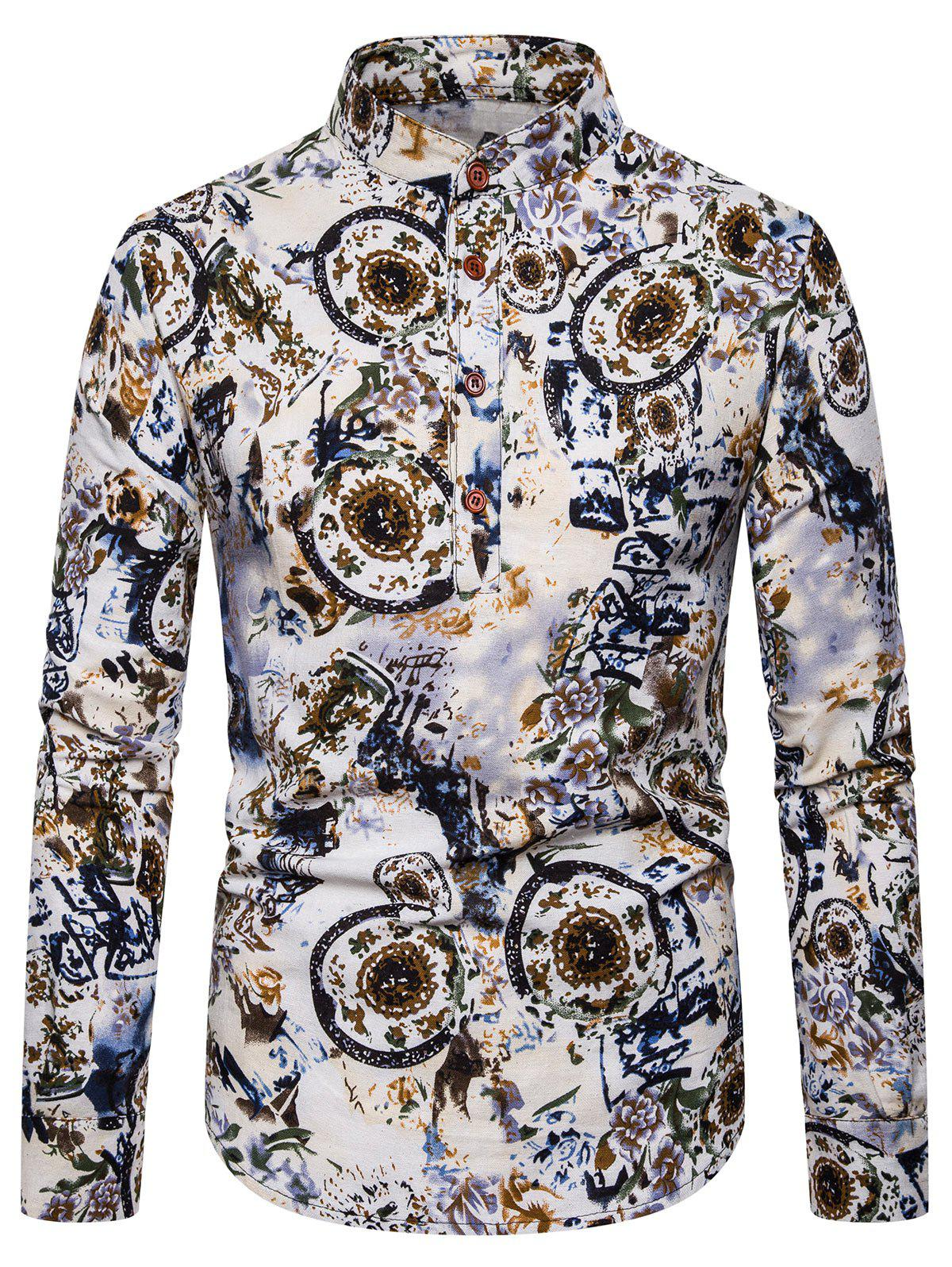 Sale Ethnic Floral Printed Full Sleeves Shirt