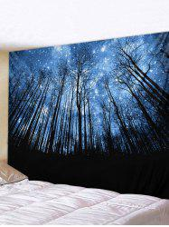 Starry Sky Forest Printed Pattern Tapestry -