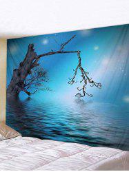 Lake Printed Pattern Tapestry -