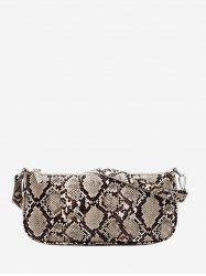 Vintage Snakeskin Pattern Rectangle Hand Bag -