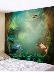 Digital Printing Animal Forest Tapestry -