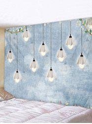 Hanging Light Ditsy Print Wall Art Tapestry -