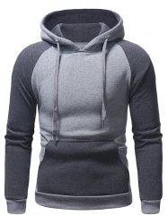 Color Block Pocket Hoodie -