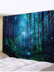 Dreamy Starry Forest Waterproof Wall Art Tapestry -