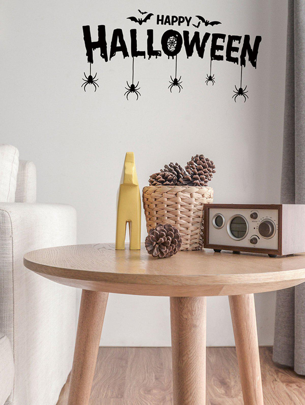 Cheap Halloween Bats and Spiders Print Decorative Wall Art Stickers