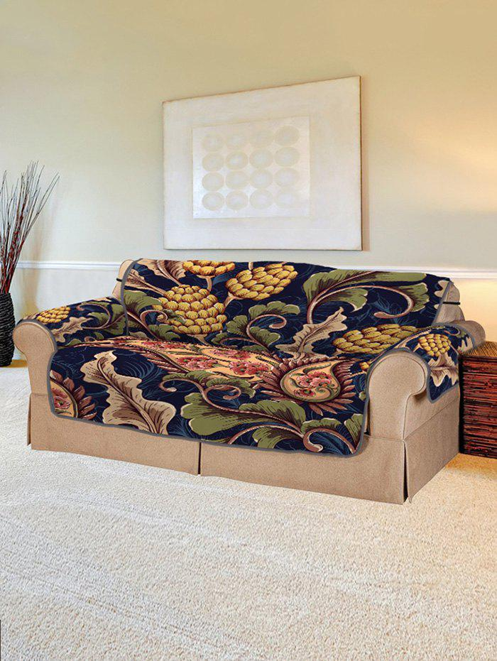 Fashion Plant Flower Design Couch Cover