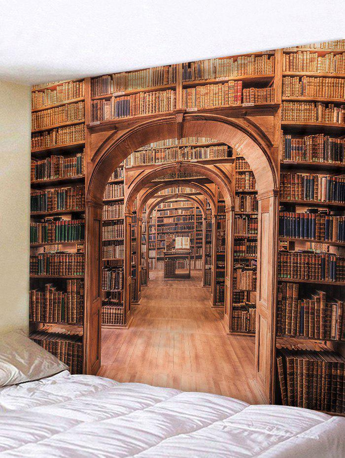 Online 3D Digital Printing Library Bookshelf Wall Tapestry