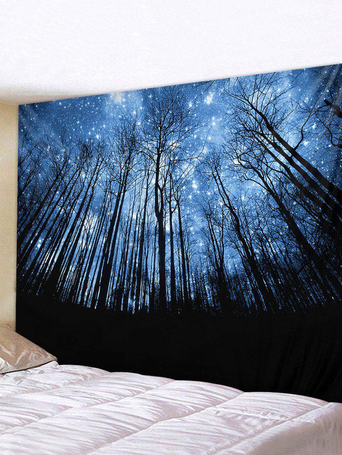 Hot Starry Sky Forest Printed Pattern Tapestry