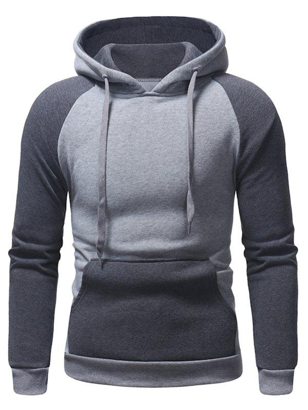 Store Color Block Pocket Hoodie