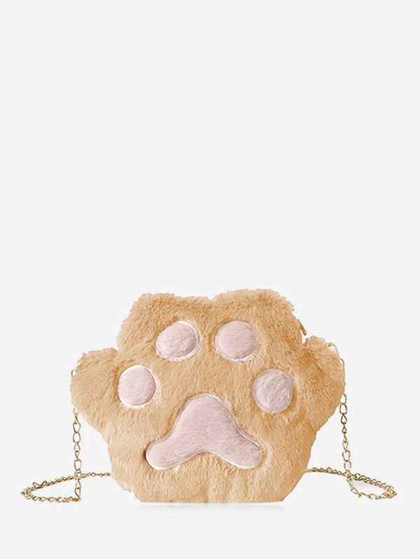 Fancy Cat Claw Fuzzy Chain Crossbody Bag