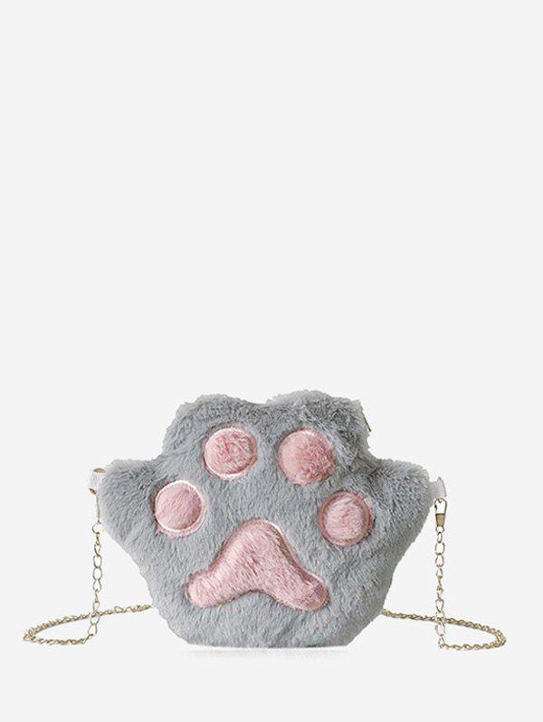 Outfits Cat Claw Fuzzy Chain Crossbody Bag