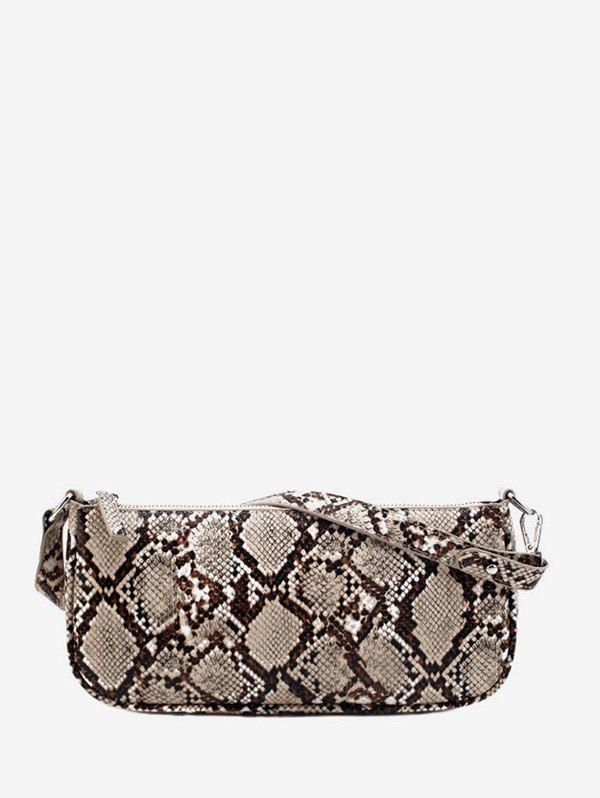 Chic Vintage Snakeskin Pattern Rectangle Hand Bag