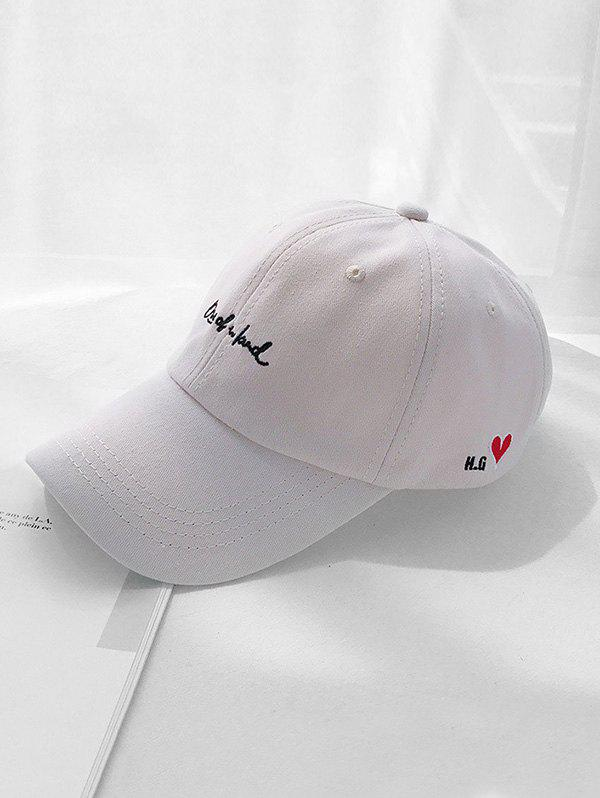 Chic Letter Heart Embroidery Dad Cap