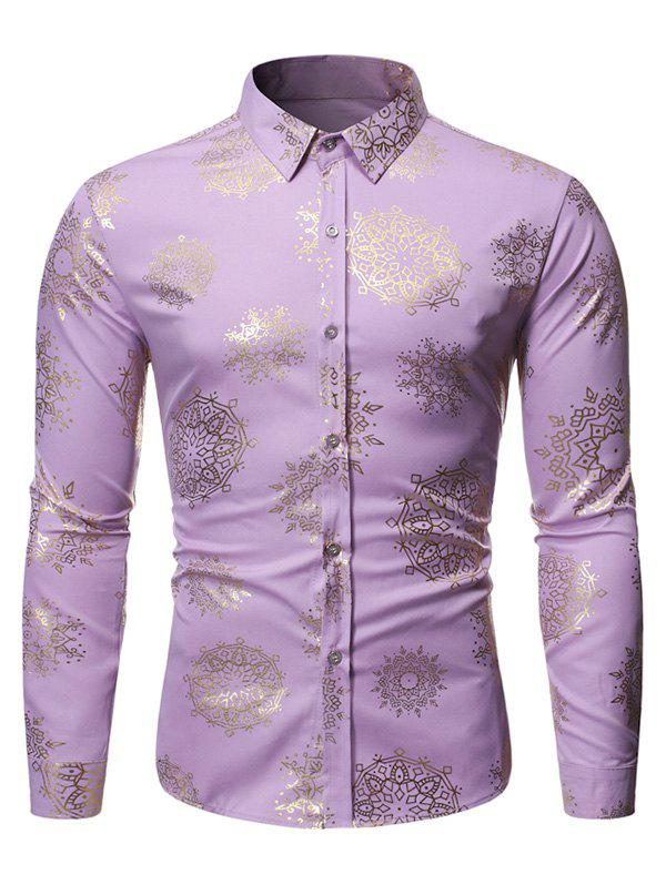 Outfit Gilding Floral Print Full Sleeves Casual Shirt
