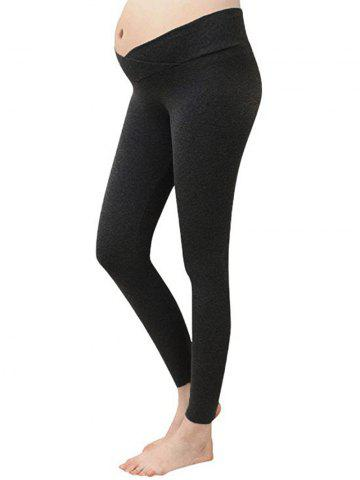 Overlap Waist Fitted Maternity Leggings