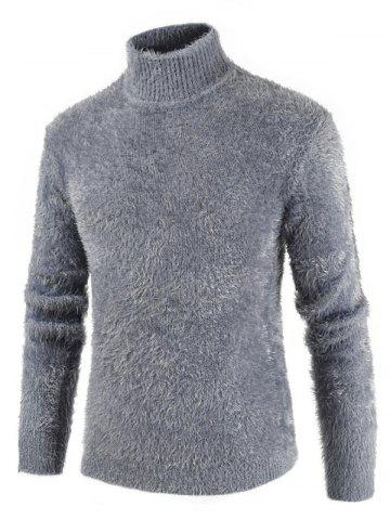Casual Solid Color Mock Neck Sweater