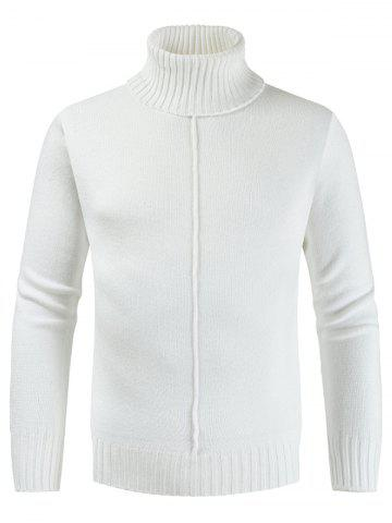 Casual Style Solid Color Turtleneck Sweater