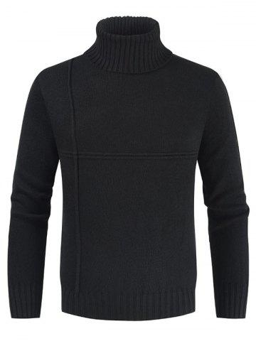 Solid Color Casual Turtleneck Sweater