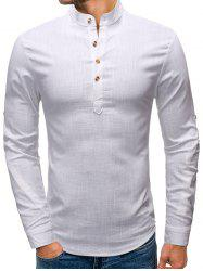 Button Embellished Long Sleeves Shirt -