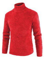 Solid Color Mock NeckLong Sleeves Sweater -