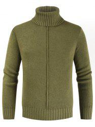 Casual Style Solid Color Turtleneck Sweater -