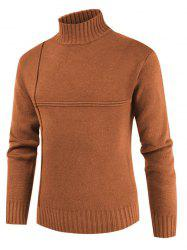 Solid Color Mock Neck Long Sleeves Sweater -