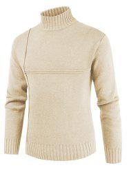 Solid Color Mock Neck Casual Sweater -