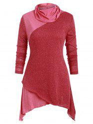 Patched Asymmetric Long Sleeves Knitwear -