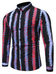 Colorful Striped Print Full Sleeves Shirt -