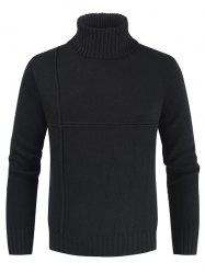 Solid Color Casual Turtleneck Sweater -