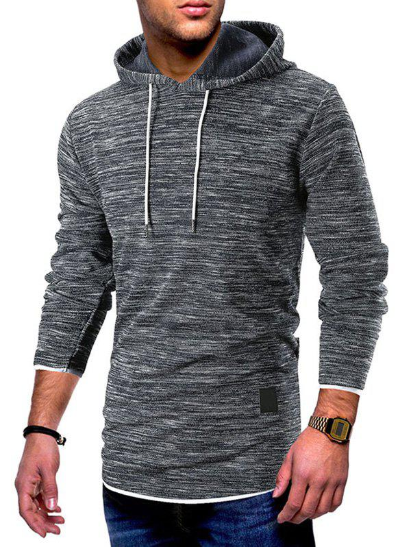 New Contrast Trim Pullover Drawstring Hoodie