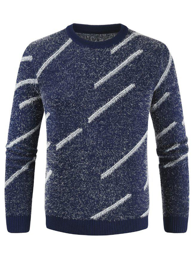 Cheap Casual Round Neck Long-sleeved Sweater