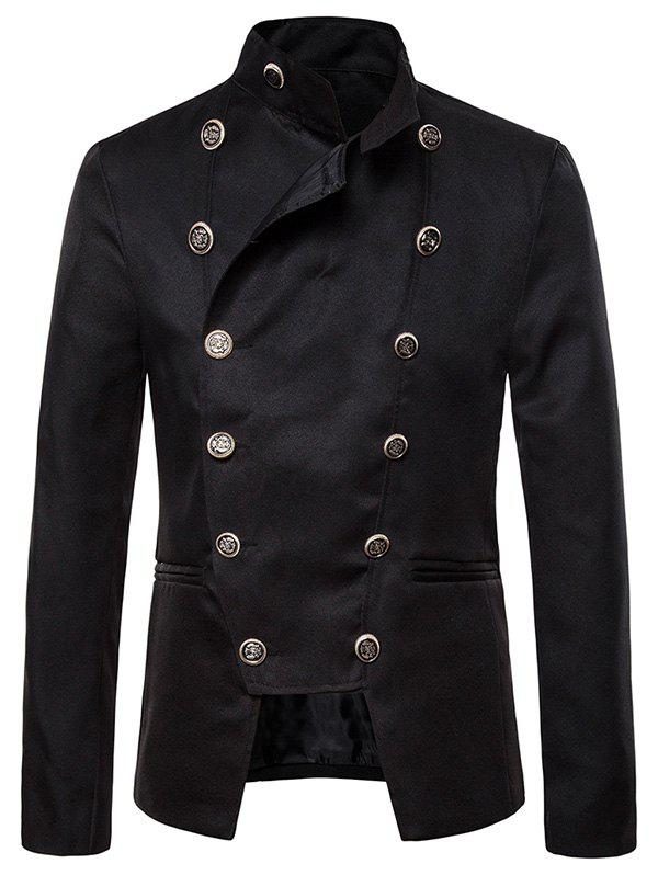 Fashion Gothic Double Breasted Stand Collar Blazer