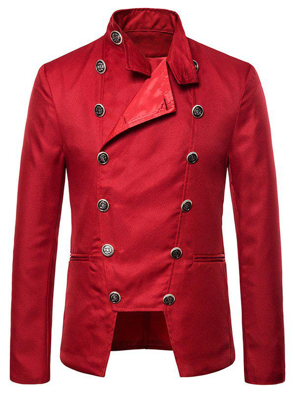 Cheap Gothic Double Breasted Stand Collar Blazer